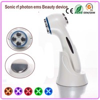 Usb Rechargeable RF Radio Frequency Microcurrent Vibration Negative Positive Ion Eye And Face Beauty Facial Massager