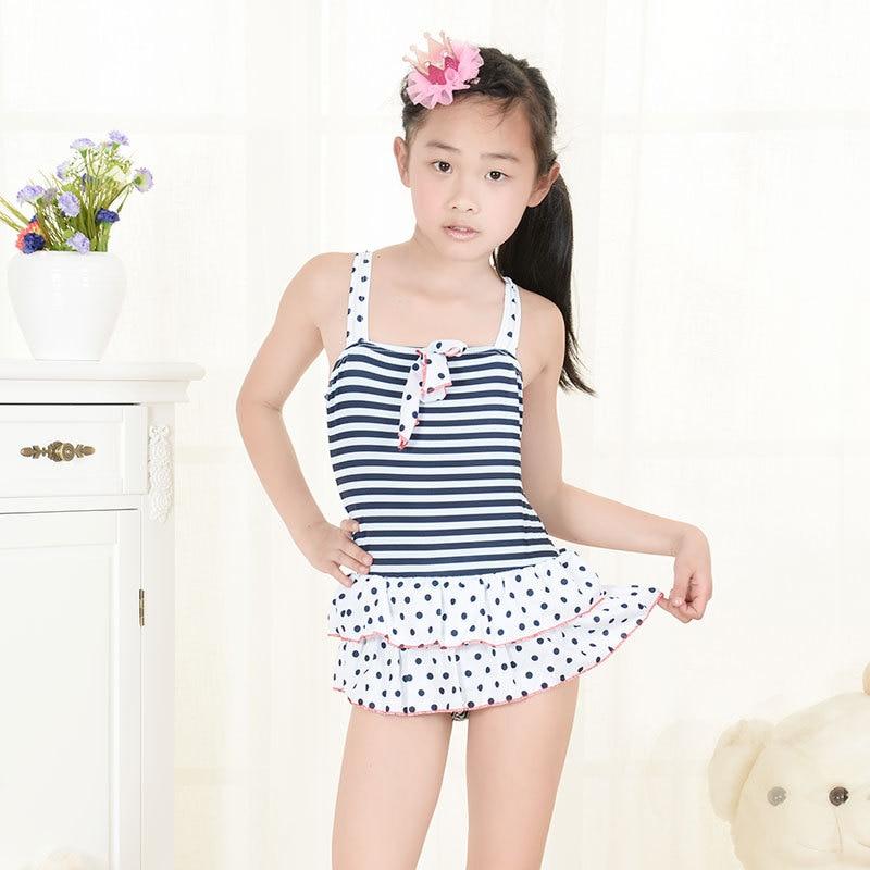 Girls Swimsuit Print Acetate Rushed Baby Girl Swimwear 2015 New Children Kids Bathing Suits 5218 - kids allin store