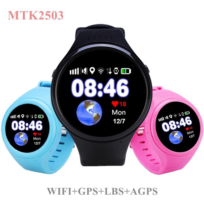 imágenes para T100 Niños Bluetooth Smartwatch Teléfono Inteligente Bebé Reloj Redondo MTK2503 Pantalla 2G WiFi GPS Wacth Podómetro Inteligente Reloj SOS SIM