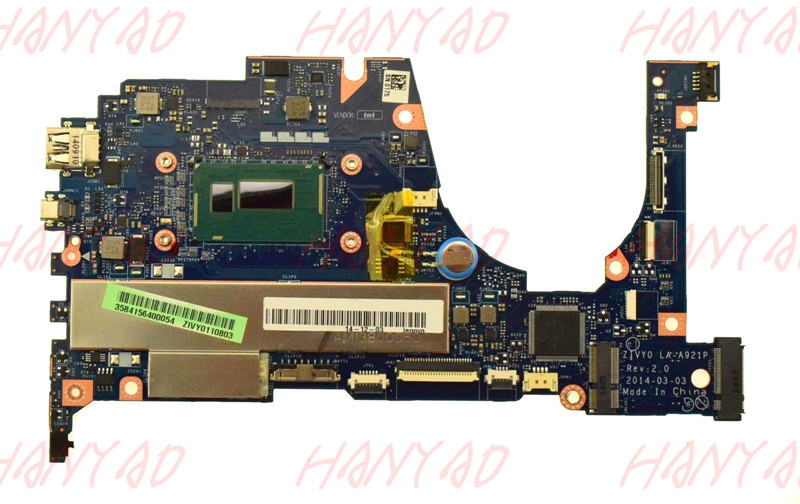 FRU 90005929 For Lenovo YOGA 2 13 W8P Laptop Motherboard LA-A921P Mainboard i5 cpu Processor RAM 4GB
