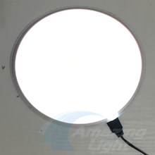 Diâmetro 25 cm branco Painel EL EL Backlight Folha EL EL Luz papel com inversor DC12V Frete Grátis