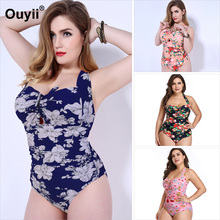 b24ac47a05 2019 New One-piece Swimsuit Printing Belly Slimming Women's Swimwear Tight-fitting  Swimwear XL