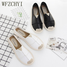 New women flats shoes ladies espadrilles