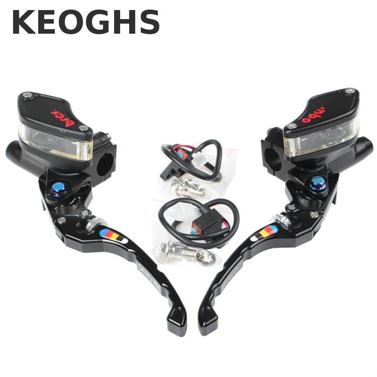 Keoghs Motorcycle Brake Master Cylinder/brake Pump/cnc Visible Reservoir 13mm Piston Size For Yamaha Honda Scooter Modify keoghs motorcycle brake disc floating 220mm 70mm hole to hole for yamaha scooter honda modify