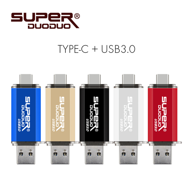 USB 3.0 Loại C OTG USB Flash 128 GB 64 GB Pendrive 32 GB 16 GB Pendrive 8 GB 4 GB Thẻ Nhớ USB Phím cho Android/PC