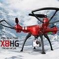 Novo modelo syma x8hg sem cabeça avião rc quadcopter com câmera de 8mp 2.4g 4ch 6 eixos novo modo de altitude hold