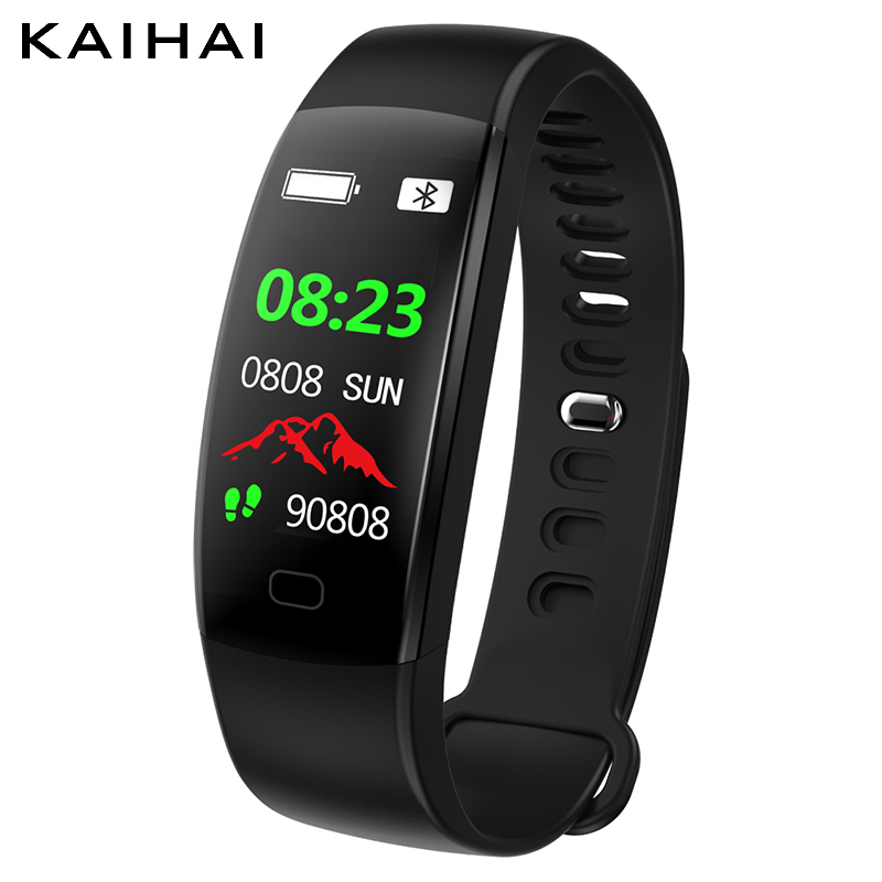 KAIHAI Silicone strap Smart Fitness Bracelet watch IP68 Waterproof Heart Rate Monitor Wristband Activity Tracker for Android IOS цена и фото