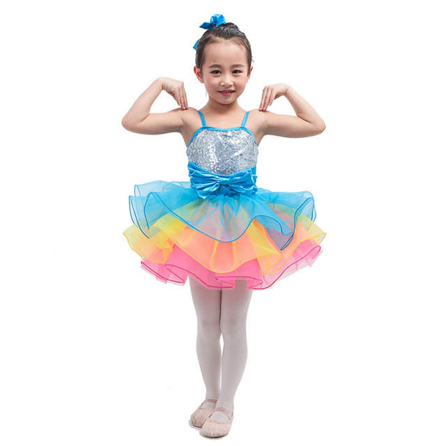 eab54bd88 Multiple Candy-color Layers Child Ballet Tutu Girl Ballerina Stage  Performance/Competition Costume Kid Jazz/Tap/Solo/Party Dress