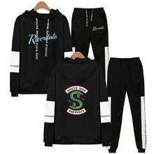 TV Show Riverdale Hoodies Sweatshirt + Sweatpants Suits Men Women Streetwear Hip Hop South Side Serpents Riverdale Two Piece Set(China)