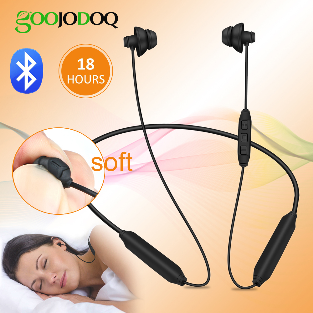 Stereo Bluetooth Earphone Sleep Wireless Bluetooth Headphones For IPhone Samsung Sleeping Earbuds Soft Headset With Microphone
