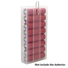 30pcs/lot Portable translucent Hard PP battery Case Holder 18650 Storage Box With Hook hanger For 8 x Batteries