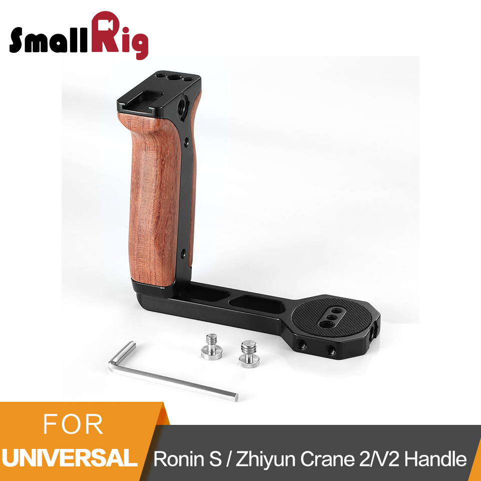 SmallRig Universal Wooden Side Handle for Ronin S SC Zhiyun Crane 2 Crane V2 Series Handheld