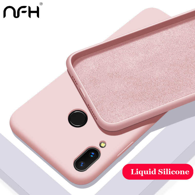 Liquid Silicone TPU Soft Cover For Huawei P8 P9 Lite 2017 Case on Honor 8 9 10 Lite 8A 8X Phone Cases Shockproof Coque Fundas
