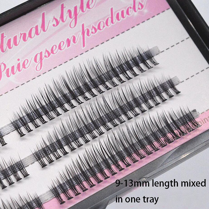 12D 0.07 Thickness 9-13 Mixed Length Individual Lashes Mink False Rainbow Eyelashes Cluster Russian Volume Eyelash Extensions