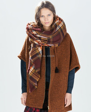 Fashion Women Winter Tartan Plaid Scarf