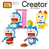 LOZ Genuine Authorized Doraemon Toys Limited Collection Toys Blocks LOZ Building Blocks Action Toy Figures An