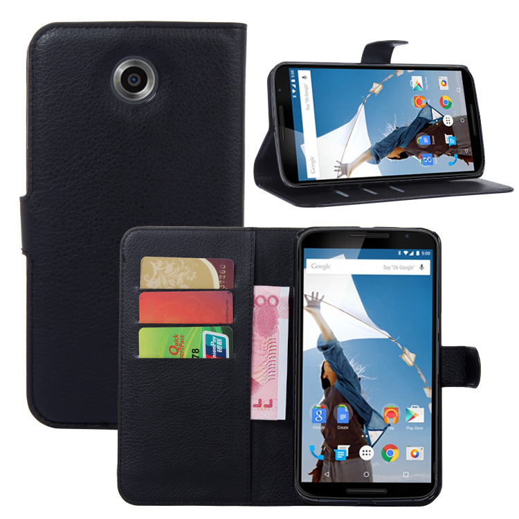 for Moto X Pro Wallet Flip Leather Case for Motorola Google Nexus 6 XT1100 XT1103 phone Leather back Cover case with Stand Etui>