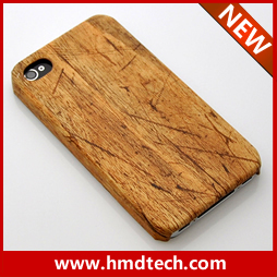 FREE SHIPPING 1 PCS Retail wholesale 2013 copy wood cover for iphone 4