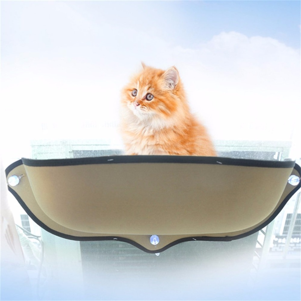 Cat Supplies Nice Durable Removable Cat Window Hammock Bed Suction Cup Sucker Type Sunbathing Lounger Sofa Cushion Hanging Shelf Excellent Quality
