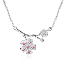 Everoyal Lady Charm Crystal Flower Pendant Necklace For Women Jewelry Trendy Silver 925 Clavicle Necklace Female Accessories Hot everoyal lady charm crystal flower pendant necklace for women jewelry trendy silver 925 clavicle necklace female accessories hot