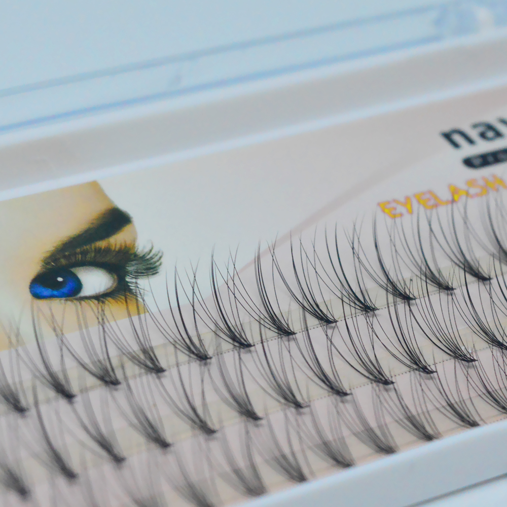 False Eyelashes 6d 10d Lashes Natrual mink hair silk lashes eyelash extensions fake lashes 0.07/0.10 thickness cilios maquiagem