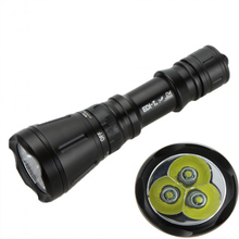 6000 Lumens 3*XML T6 8 mode 60M LED Dive Lamp Scuba Diving Flashlight Underwater Hunting Flash Light,Use 26650