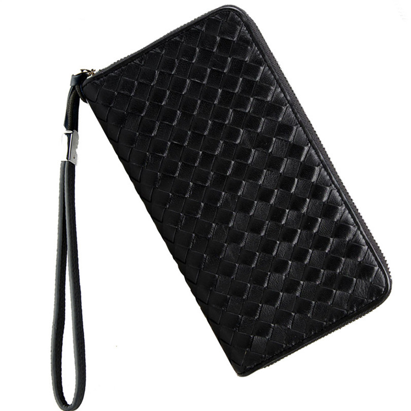 Luxury Brand Men Genuine Leather Wallet Top Sheepskin Men Wallets Clutch Plaid Leather Purse Carteira Masculina Phone Bag sale carteira feminina genuine leather bag brand wallet men kangaroo design genuine leather wallets mens carteira masculina