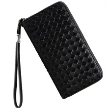 Luxury Brand Men Genuine Leather Wallet Top Sheepskin Men Wallets Clutch Plaid Leather Purse Carteira Masculina Phone Bag