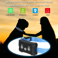 Mini Pet GPS Tracker IP66 Waterproof Smart Location Free APP Smart GPS With Collar For Cat