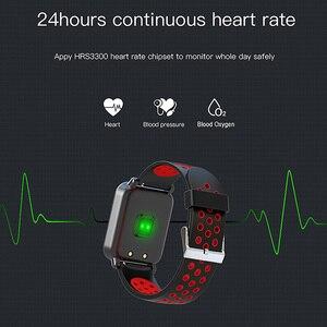 Image 3 - الذكية الرياضة ووتش SN60 الروبوت IOS القلب معدل الرجال النساء سوار ضغط الدم جهاز تعقب للياقة البدنية اللون للماء النشاط الفرقة