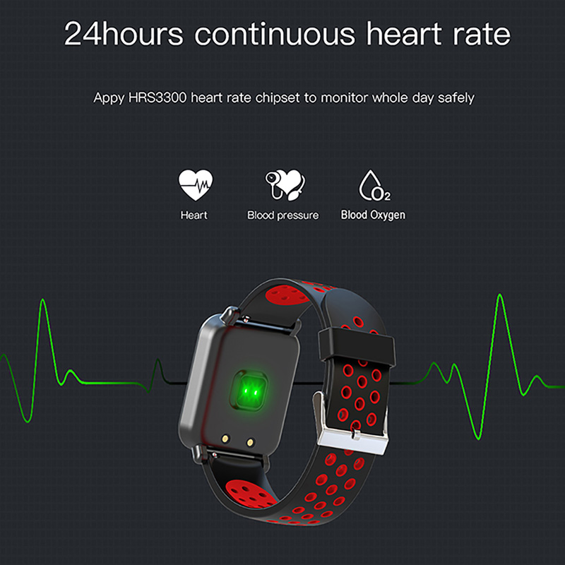 Image 3 - Smart Sport Watch SN60 Android IOS Heart Rate Men Women Bracelet Blood Pressure Fitness Tracker Color Waterproof Activity Band-in Smart Wristbands from Consumer Electronics
