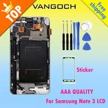 Хорошее Для samsung Galaxy Note 3 N9005 N900A N900 N900V Дисплей ЖК-дисплей Экран Сенсорный экран планшета Ассамблеи Замена с рамкой