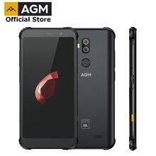 공식 AGM X3 JBL-Cobranding 5.99 '4g 스마트 폰 8G   64G SDM845 안드로이드 8.1 IP68 방수 듀얼 박스 스피커 NFC