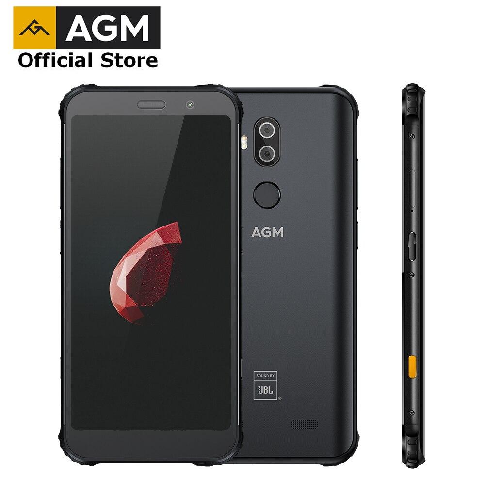 AGM X3 jbl-comarquage officiel 5.99 ''4G Smartphone 8G + 128G SDM845 Android 8.1 IP68 étanche téléphone portable double boîte haut-parleur NFC