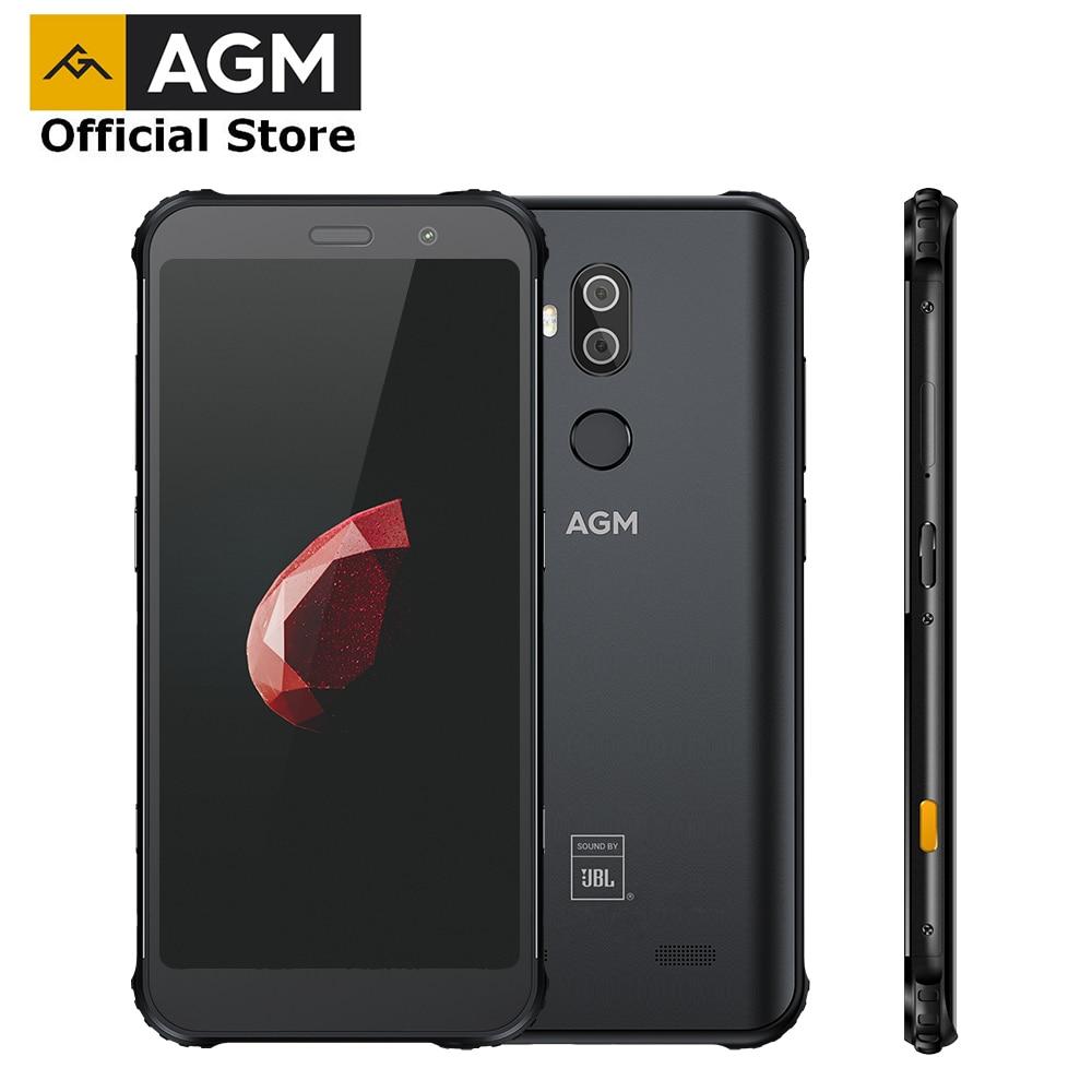 AGM X3 jbl-comarquage officiel 5.99 ''4G Smartphone 8G + 64G SDM845 Android 8.1 IP68 étanche téléphone portable double boîte haut-parleur NFC