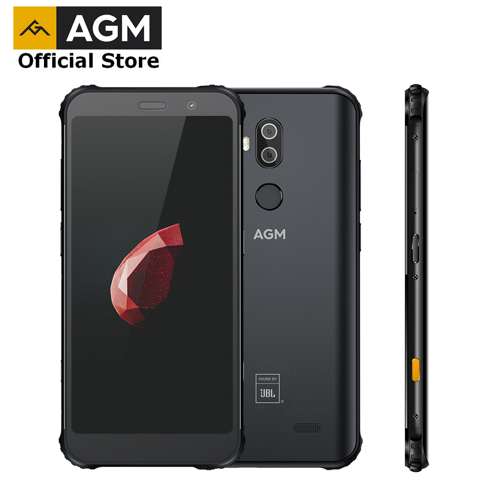 OFFICIAL AGM X3 JBL-Cobranding 5.99'' 4G Smartphone 8G+64G SDM845 Android 8.1 IP68 Waterproof Mobile Phone Dual BOX Speaker NFC(China)