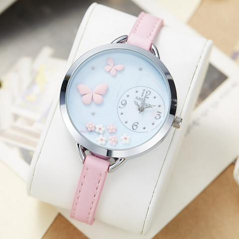 miss keke 2018 new clay cute Geneva kids Butterfly Flower girl watches Bracelet children Ladies Women watches  montre enfant 818 Lahore