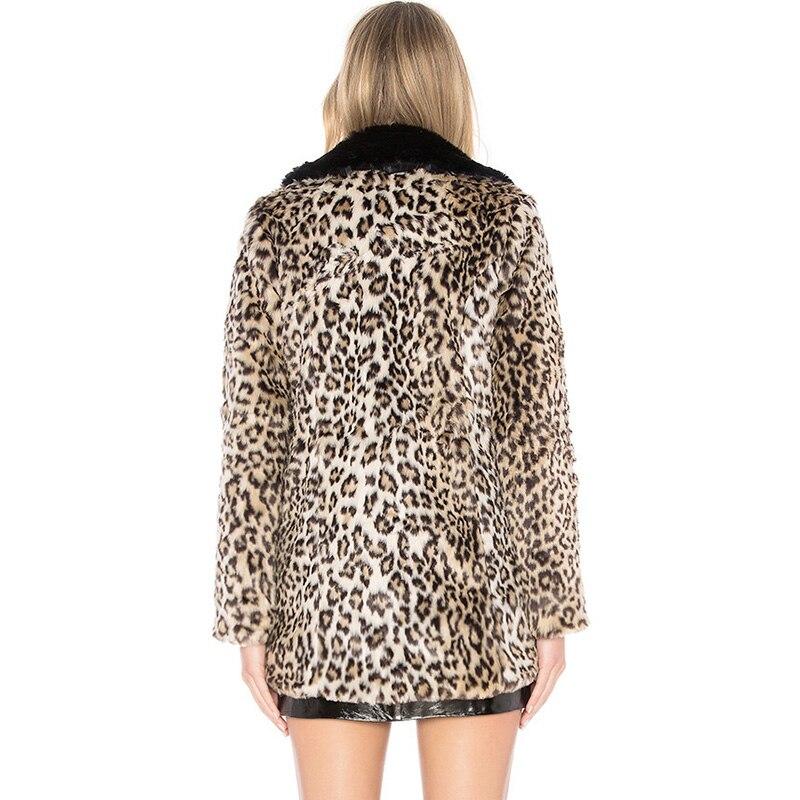 Mince Veste Luxe Femmes Artificielle Fausse En Femme Chaud De Outwear Hiver Automne Mode Léopard Manteau Vogue 6q2167 Fourrure Nouvelle qATZwY