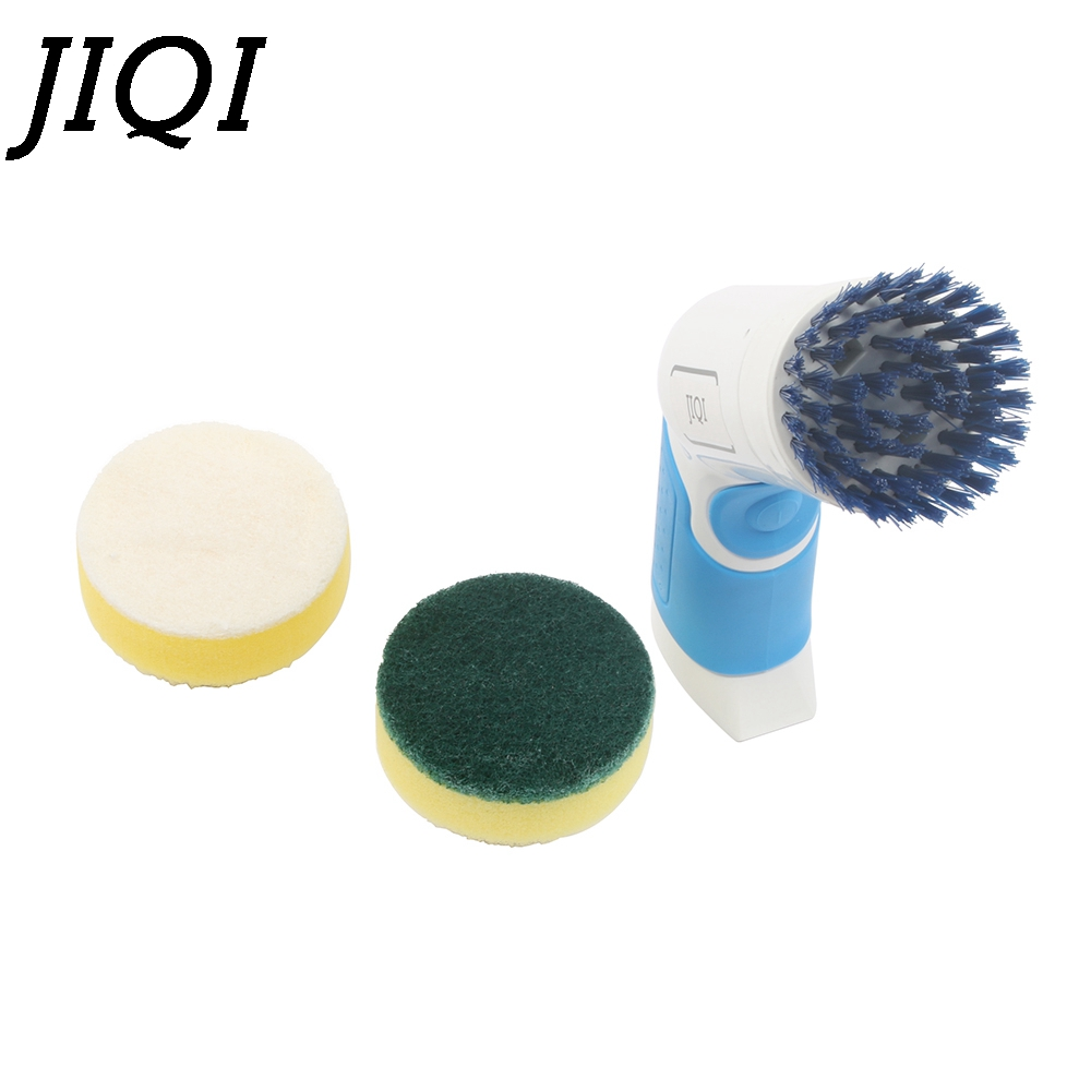 JIQI Handle electric multifunction household dishwashing brush Pot Cleaner Dishes cleaning brush Tile Bathtub Kitchen Dishwasher цена
