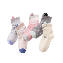 5 Pairs / Lot2019 Autumn & Winter New Boys and Girls Children Socks Set 3-12Y Cotton Comfortable