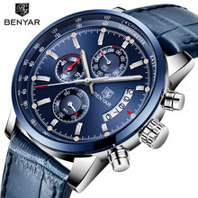 BENYAR New Luxury Fashion Men Watch Top Brand Business Military Quartz Leather Support  Dropshipping Relogio Masculino