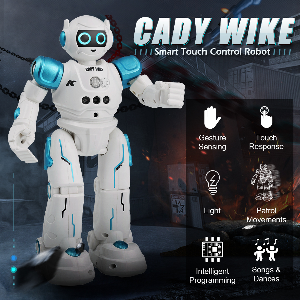 Robot Intelligent Walking Smart Programmable Sensing Voice-Recognition Dancing Touch