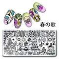 1 Unid Harunouta Patrón Nail Art Placa de la Imagen Que Estampa la Placa Postre Torta Harunouta L021