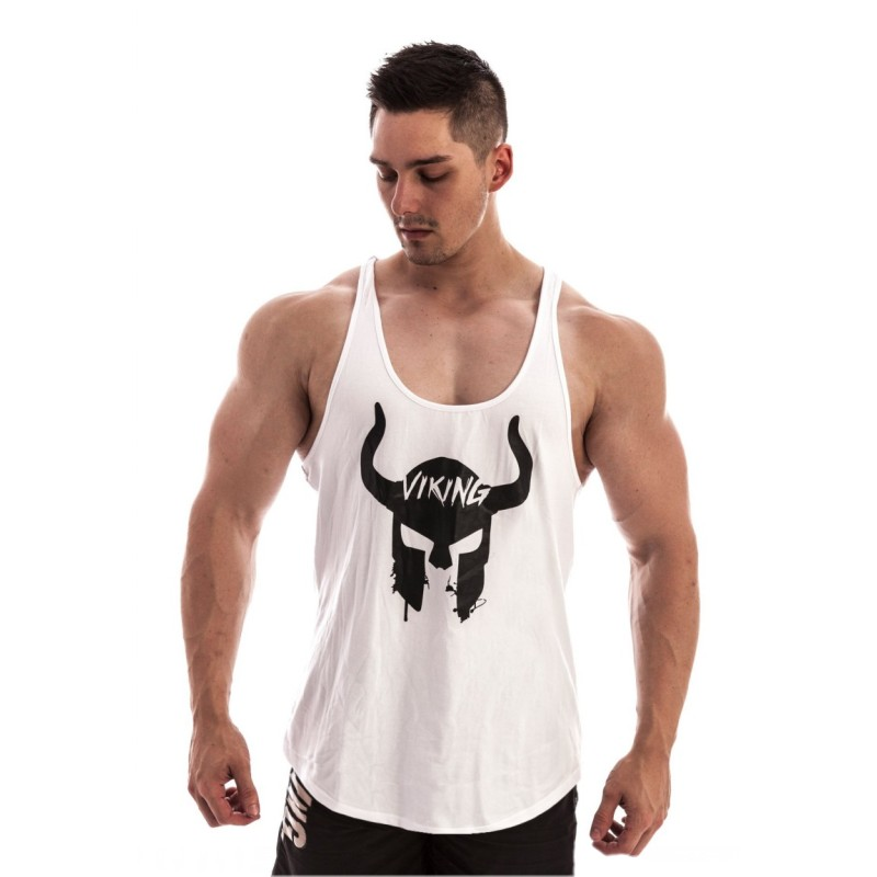 AZTEC PATTERN BODYBUILDING VEST ZYZZ TRIBAL STRINGER TOP SINGLET WORKOUT MEN
