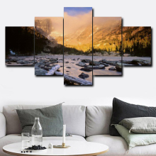 Abstract 5 Panel Posters Prints Photo Album Paint On Canvas Vintage Painting Living Room Home Decor Wall Artwork
