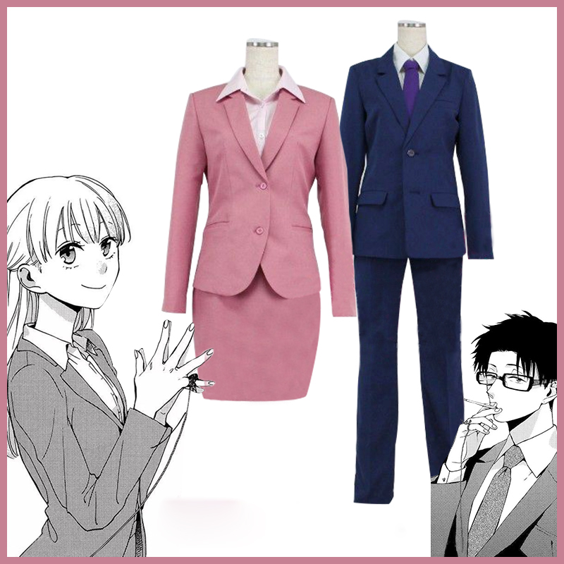 2018 New Anime Wotakoi: Love is Hard for Otaku Cosplay Costume Narumi Momose / Hirotaka Nifuji Uniforms Outfits Custom Made