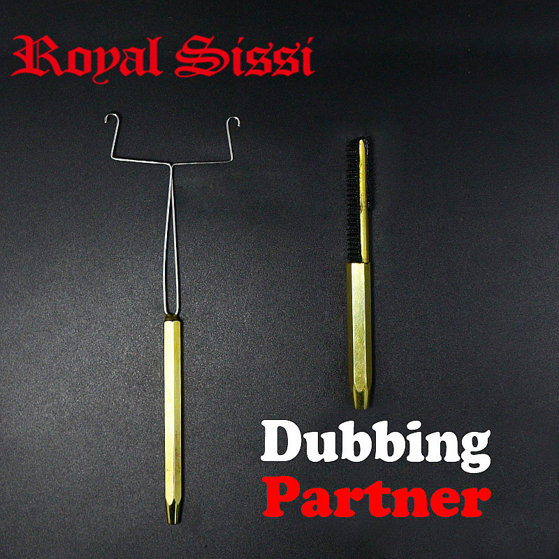 Royal Sissi 1set Fly Tying Dubbing Tools Y-shaped Dubbing Twister&brass Handle Dubbing Brush Combo Durable Using Fly Tying Tools