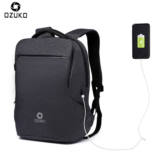 78b6c8080d69 OZUKO Brand New Multifunctional Men's Backpack USB Charging Business Laptop  Backpack Fashion Casual Student School Bag Rucksacks-in Backpacks from ...