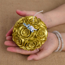 Hot sale LZ0092 3D Big Size Rose Flower Ball Mold Silicone Rubber Soap Candle Crafts Mold Resin Crafts Moulds