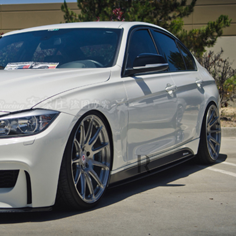 MP Style F30 Carbon Side Skirt Extensions voor BMW F30 3-serie Sedan - Auto-onderdelen - Foto 3